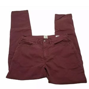 Flint and Tinder Straight Fit Jeans Burgundy Size 31X32 Mens